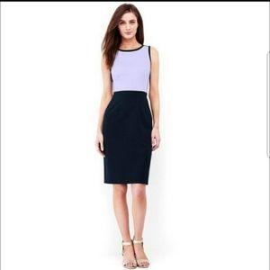 NWOT Lands End ponte lilac & navy dress sz 18